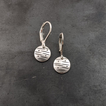 Stamped Disk Earrings