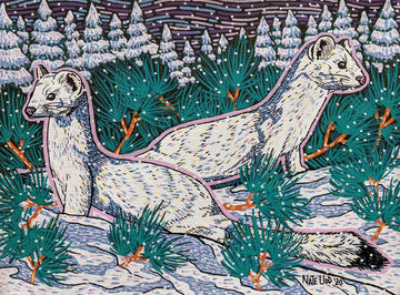 Winter Weasels - Original Painting