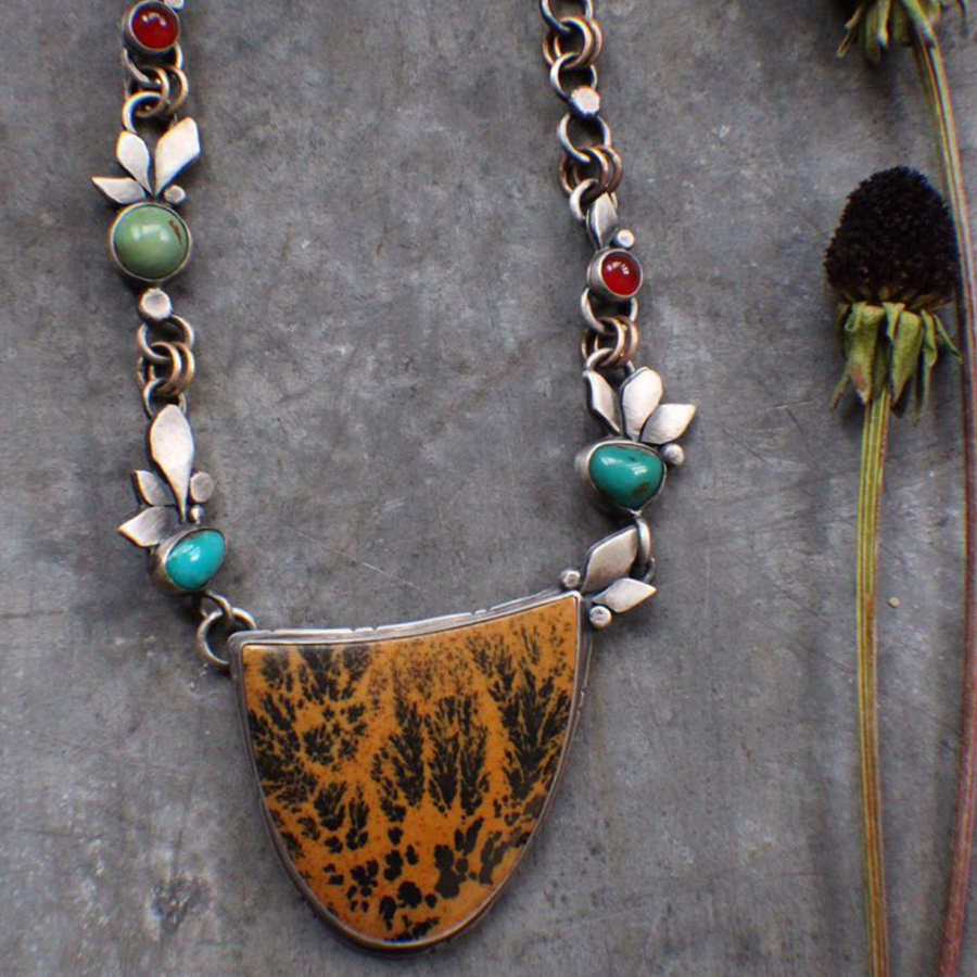 Ode to Fall Sagebrush Jasper Necklace