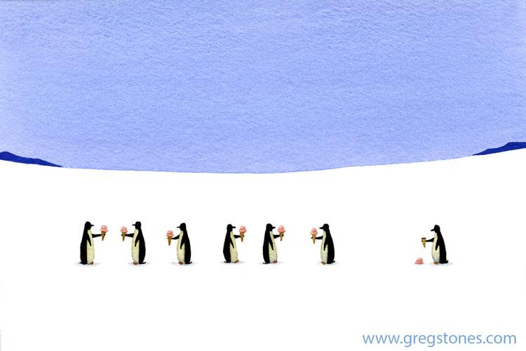 Six Happy Penguins
