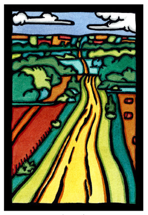The Road Original Linocut
