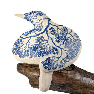 Blue Carved Bird #751