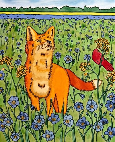Fox & Friend Original Painting