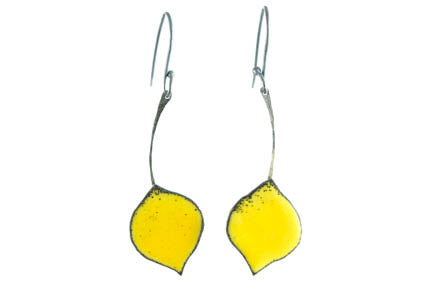 Quaking Yellow Aspen Leaf Earrings