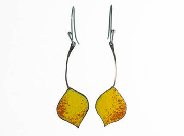 Quaking Red Aspen Leaf Earrings