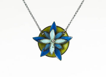 Blue Columbine Necklace