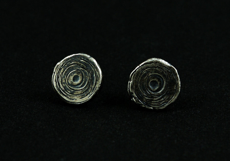 Crosscut Post Earrings