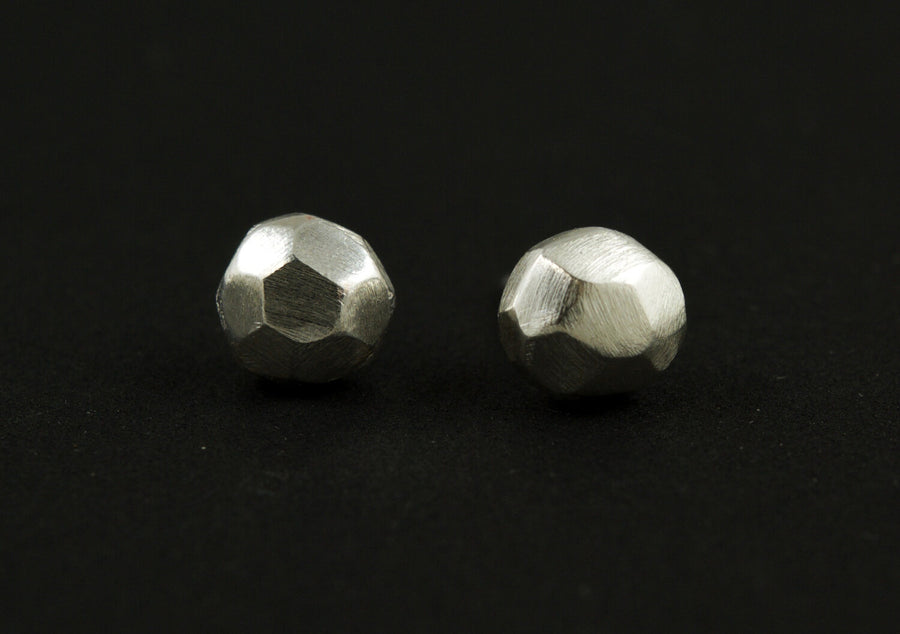 Facet Earrings - Silver