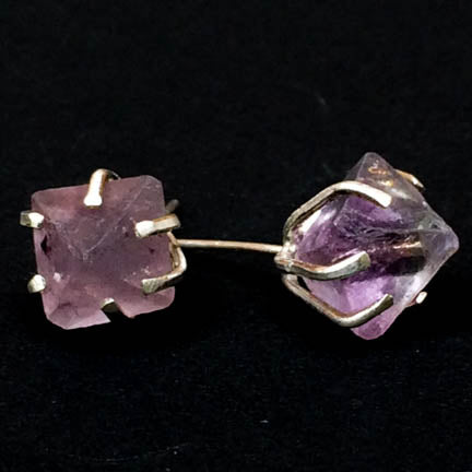Specimen Earrings - Purple Fluorite