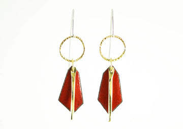 Red Leonid Earring