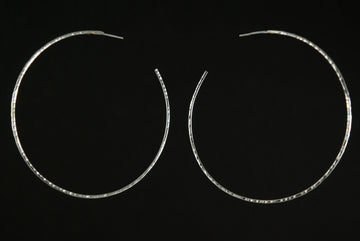 Moon Hoop Earrings