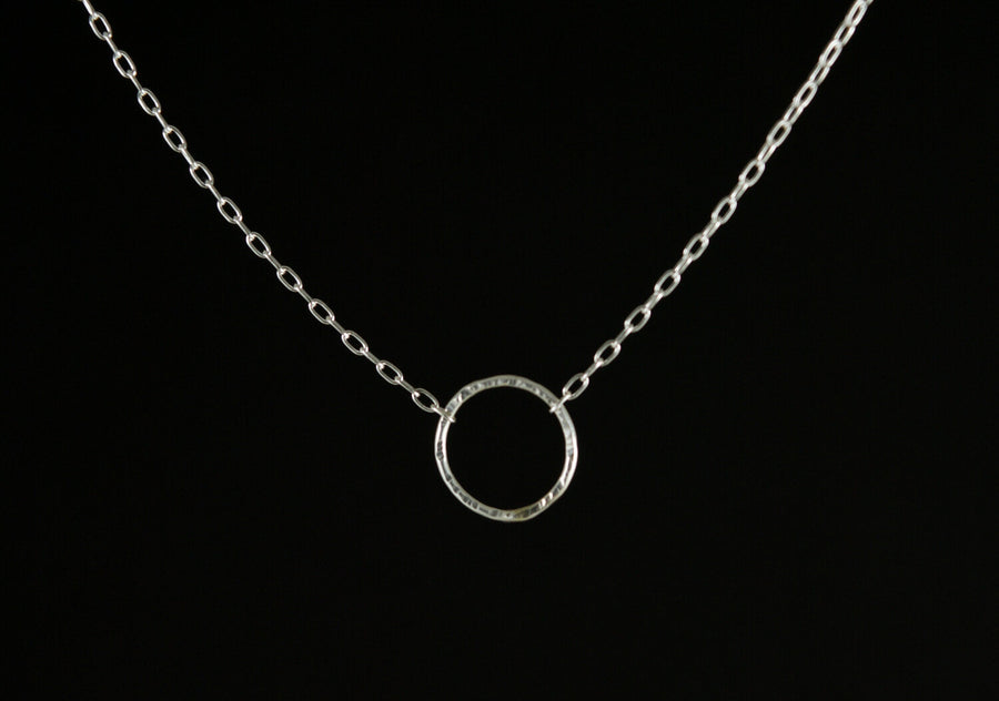 Tiny Eclipse Necklace - Silver