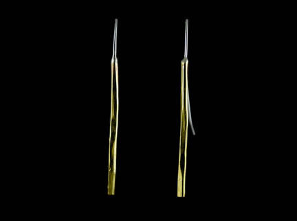 Willow Sticks Earrings - bronze