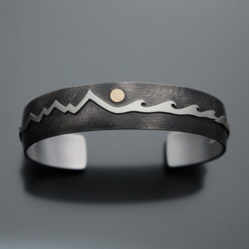 Men's Mountain and Waves Bracelet B31
