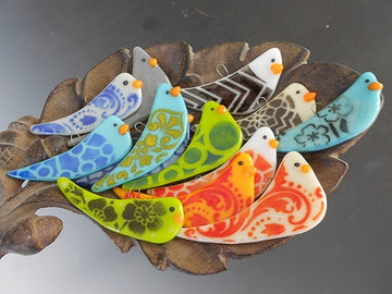 Whimsical Bird Ornaments