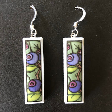 Rectangle Earrings - Huckleberries