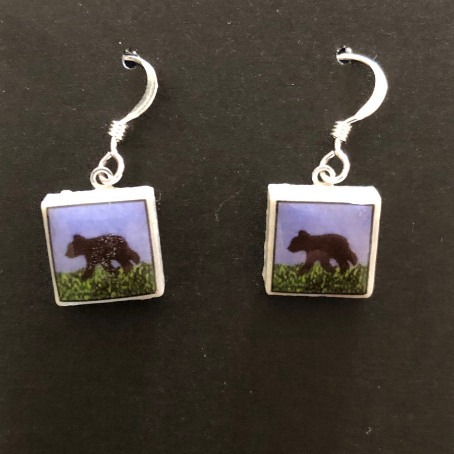 Square Earrings - Bears