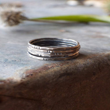 Silver Stacking Rings - Size 7.5
