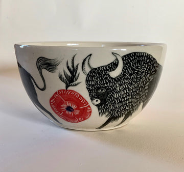 Buffalo & Poppies Large Bowl