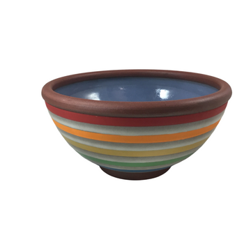 Purple Rainbow Striped Bowl