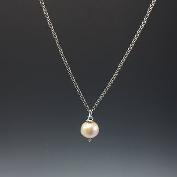 Pink Pearl Necklace #426