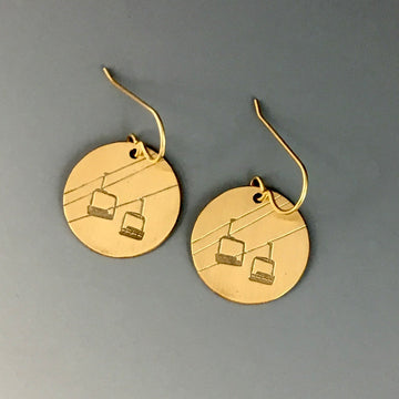 Chairlift Earrings - rose gold