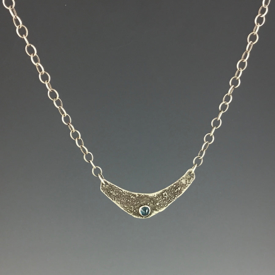 Reticulated Pendant with London Blue Topaz Necklace