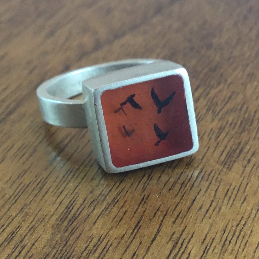 Red Flock Ring