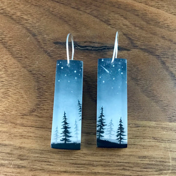 Glitter Pines Earrings