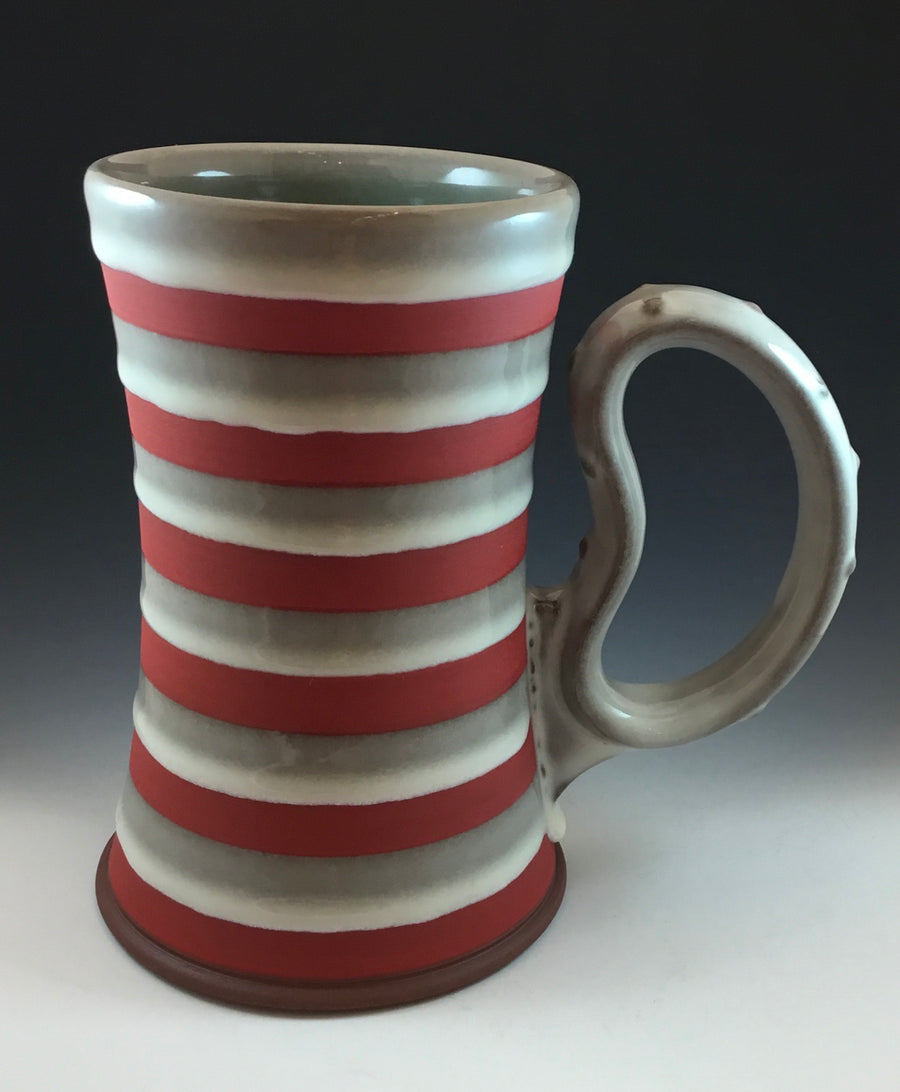 Red and White Stein