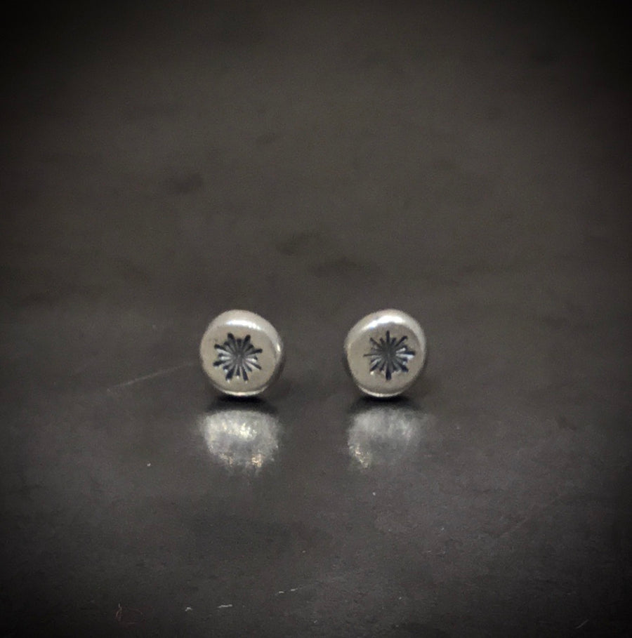 Earrings -Star Burst Button Posts