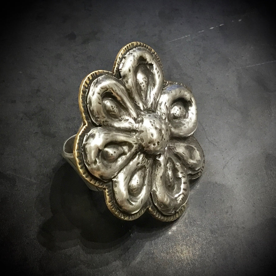 Repousse Flower Ring