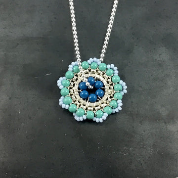 Bloom Necklace - Periwinkle, Turquoise, Blue