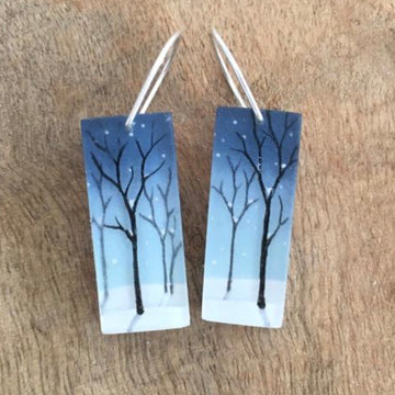 Snowy Forest Earrings