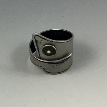 Ring - Silver with Black Dot