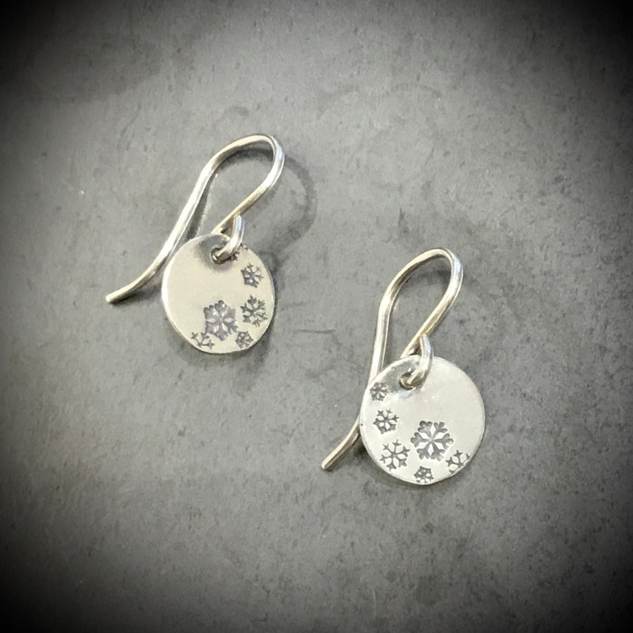 Earrings -Snowflake Disks