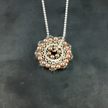 Bloom Necklace - Blue, Rose Gold, Taupe