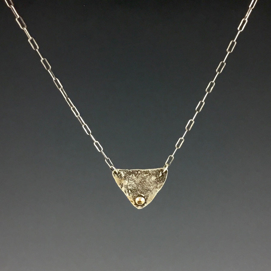 Reticulated Triangle with Citrine Necklace