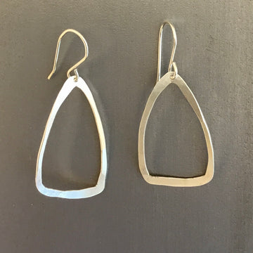 Forged Triangle Earrings