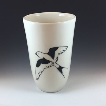 Medium Vase / Cup with Bird