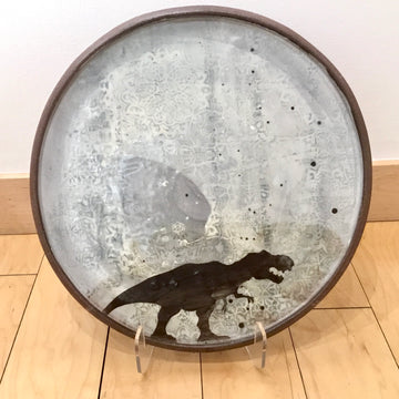 Large Platter - T-Rex with Pattern - White