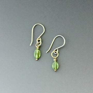 Tiny Earrings with Peridot