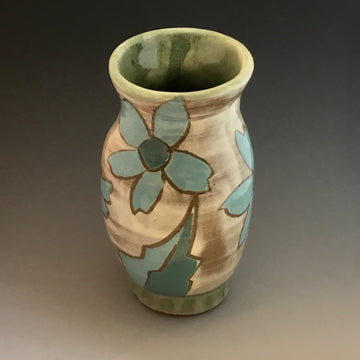 Blue Sunflower Vase