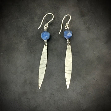 Marquis Drop with Lapis Earrings