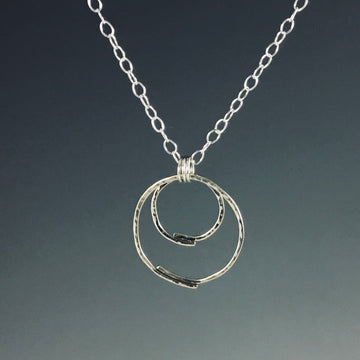 Double Overlap Circle Necklace