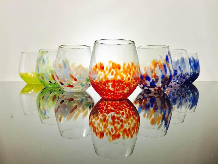 Hand Blown Stemless Glass