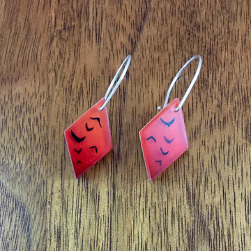 Red Flock Earrings