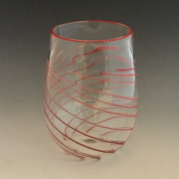 Full Swirl Stemless Glass