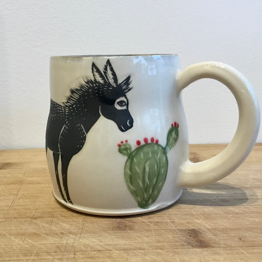 Donkey with Prickly Pear Cactus Mug