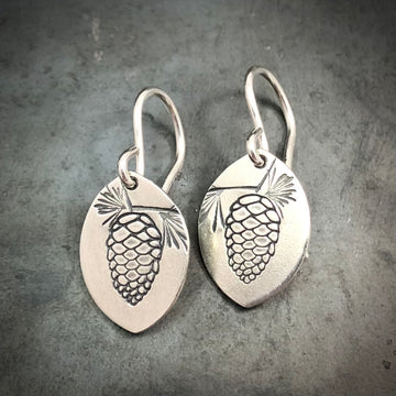Earrings - Marquis with Pinecone